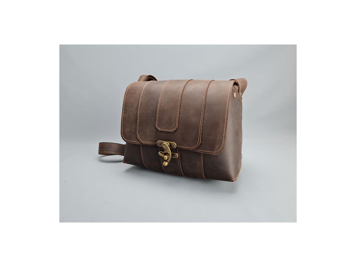 Sac femme cuir Vintage Marron / Le...
