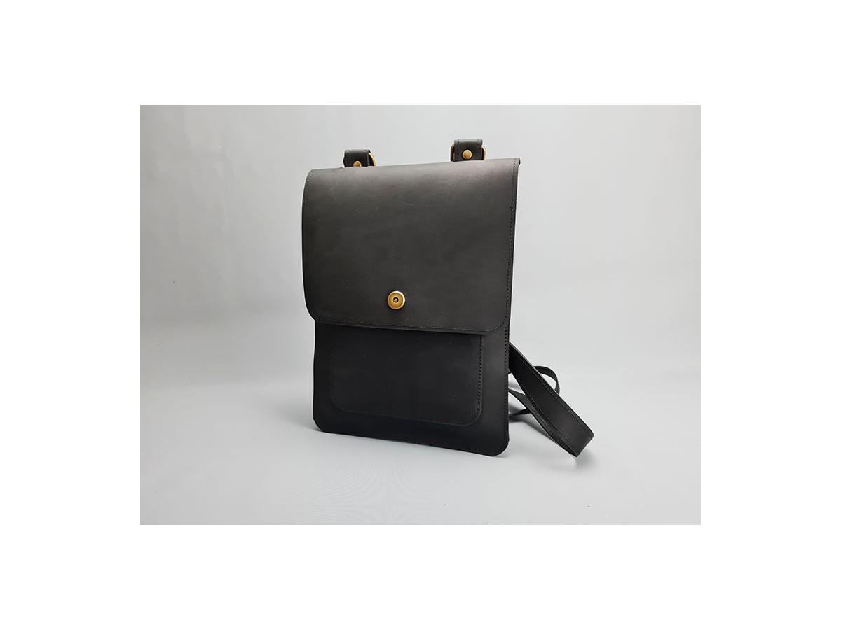 Sac cuir Noir Vintage Homme / LE DISCRET