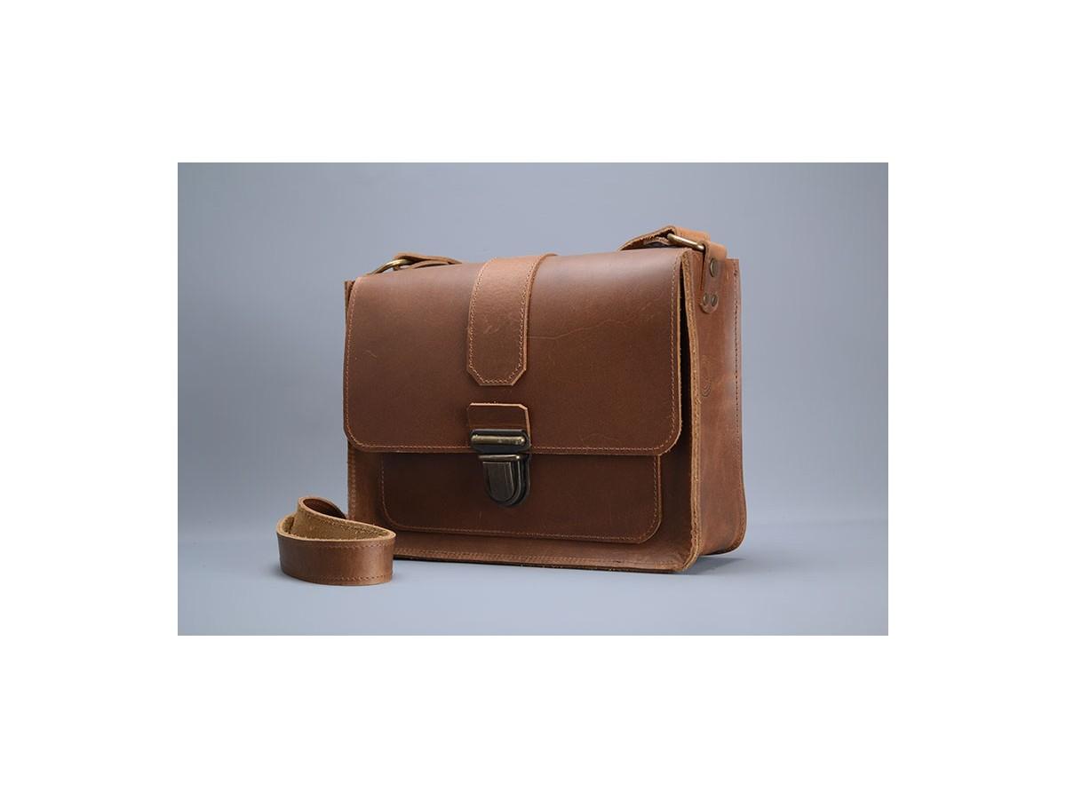 Sac Homme MESSAGER N°3 cuir Vintage