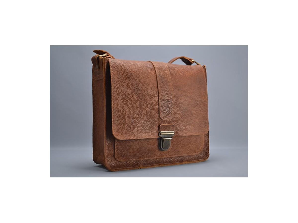 Grand sac Homme cuir Marron / Le...